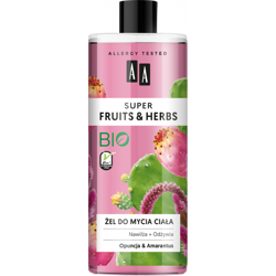 AA SUPER FRUITS&HERBS żel do mycia ciała opuncja&amarantus