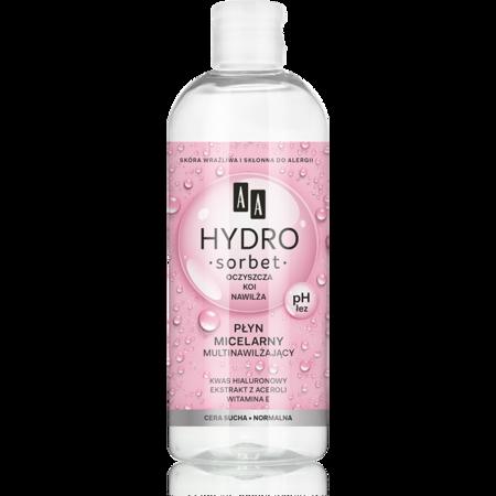 AA Hydro Sorbet nawilżający płyn micelarny c/sucha