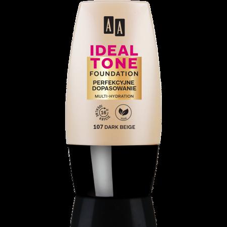 AA Make Up Ideal Tone Podkład perfekcyjne dopasowanie 107 dark beige 30ml