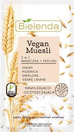Bielenda Vegan Muesli Maseczka+Peeling nawilżająco-oczyszczająca 8g