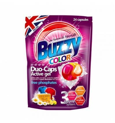 Buzzy kapsułki do prania Duo-Caps Color 24 szt