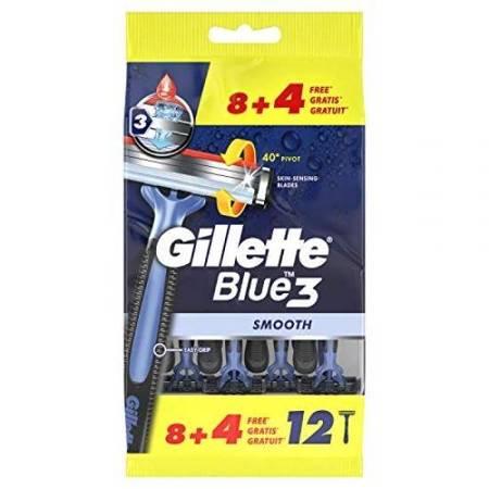 Gillette BLUE 3 Smooth Maszynki do golenia 12szt. worek