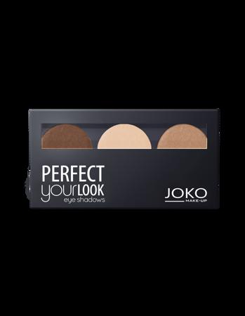 JOKO Cienie prasowane do powiek TRIO PERFECT YOUR LOOK 305