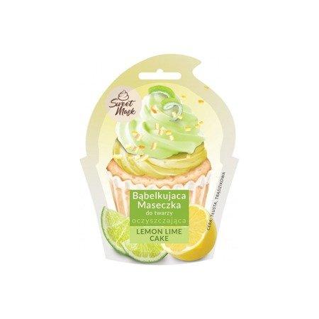 Marion Bąbelkująca maseczka oczyszczająca do twarzy LEMON & LIME CAKE