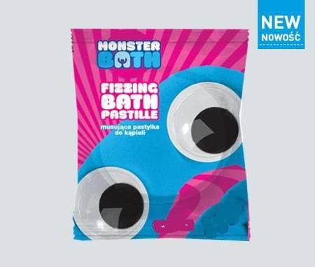 Monster Bath Musujące tabletki do kąpieli MALINA